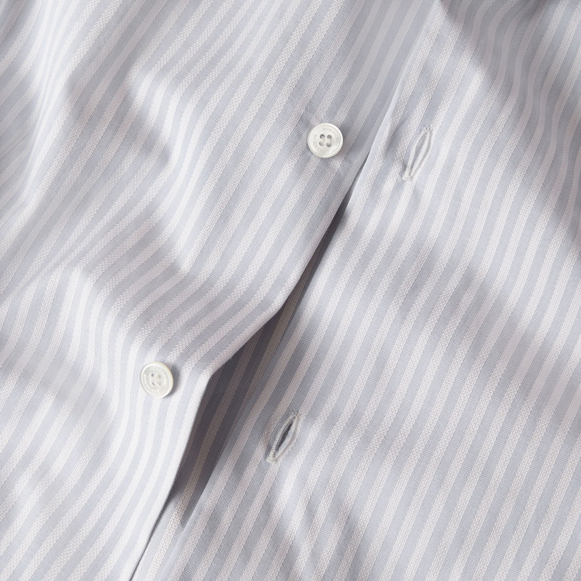City blue Modern Fit Striped Cotton Shirt City Blue - gallery image 2