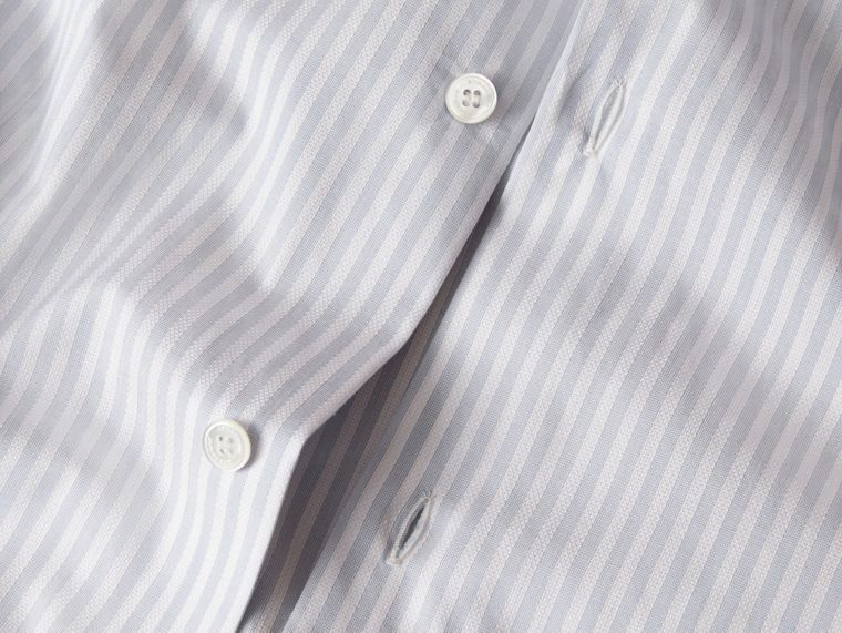 City blue Modern Fit Striped Cotton Shirt City Blue - cell image 1
