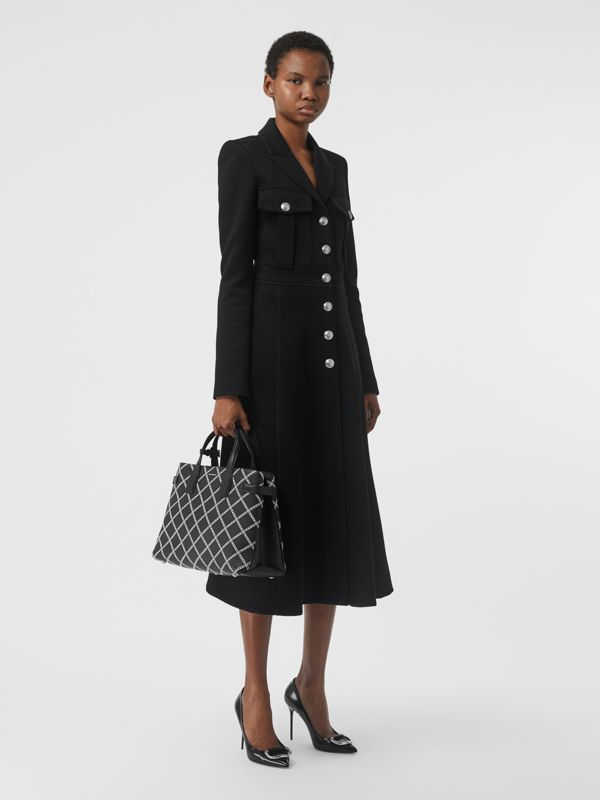 The Medium Banner aus Leder mit Kettenmuster (Schwarz) - Damen | Burberry - cell image 2