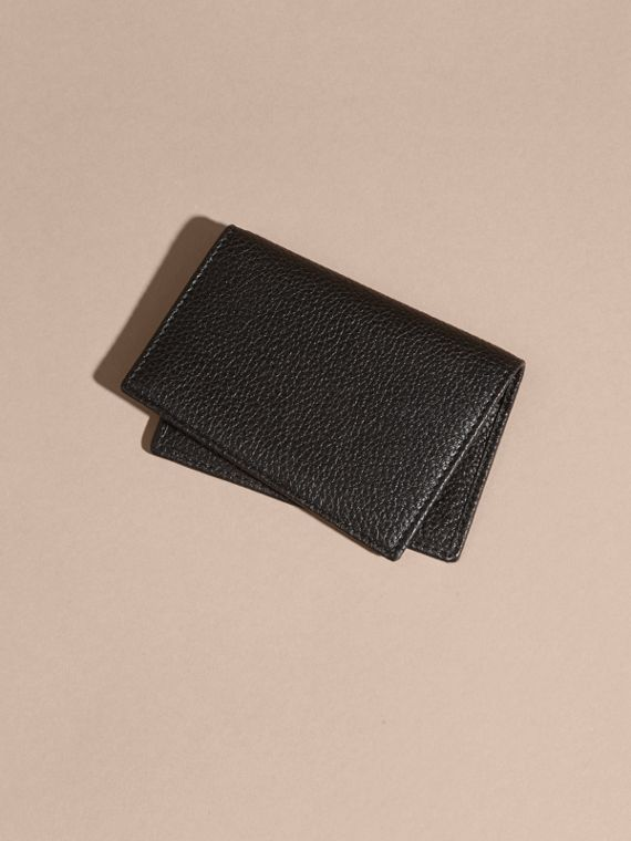 Black Grainy Leather Card Holder - cell image 3