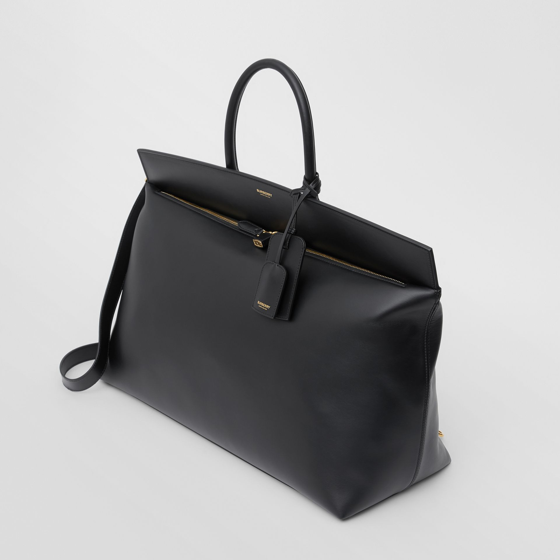 Extra Large Leather Society Top Handle Bag in Black - Men | Burberry Hong Kong S.A.R - gallery image 2