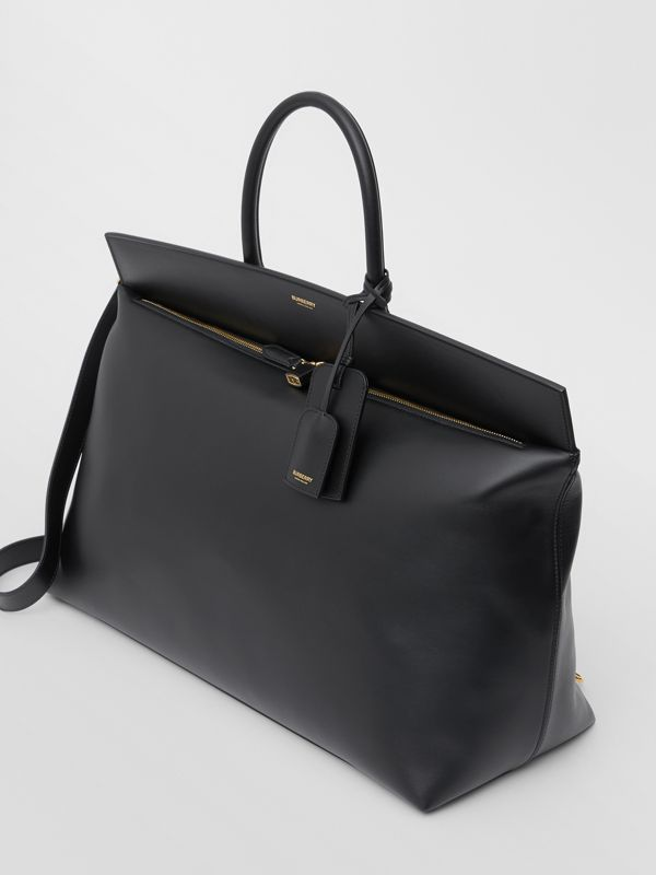 Extra Large Leather Society Top Handle Bag in Black - Men | Burberry Hong Kong S.A.R - cell image 2