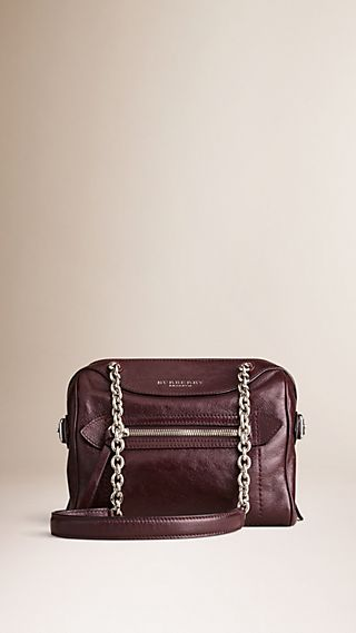 The Small Alchester in Grainy Leather with Chain Straps