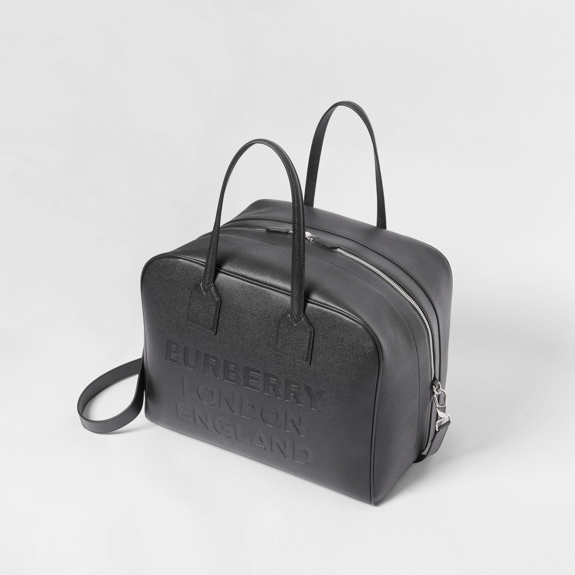 Large Leather Cube Bag in Black | Burberry - gallery image 2