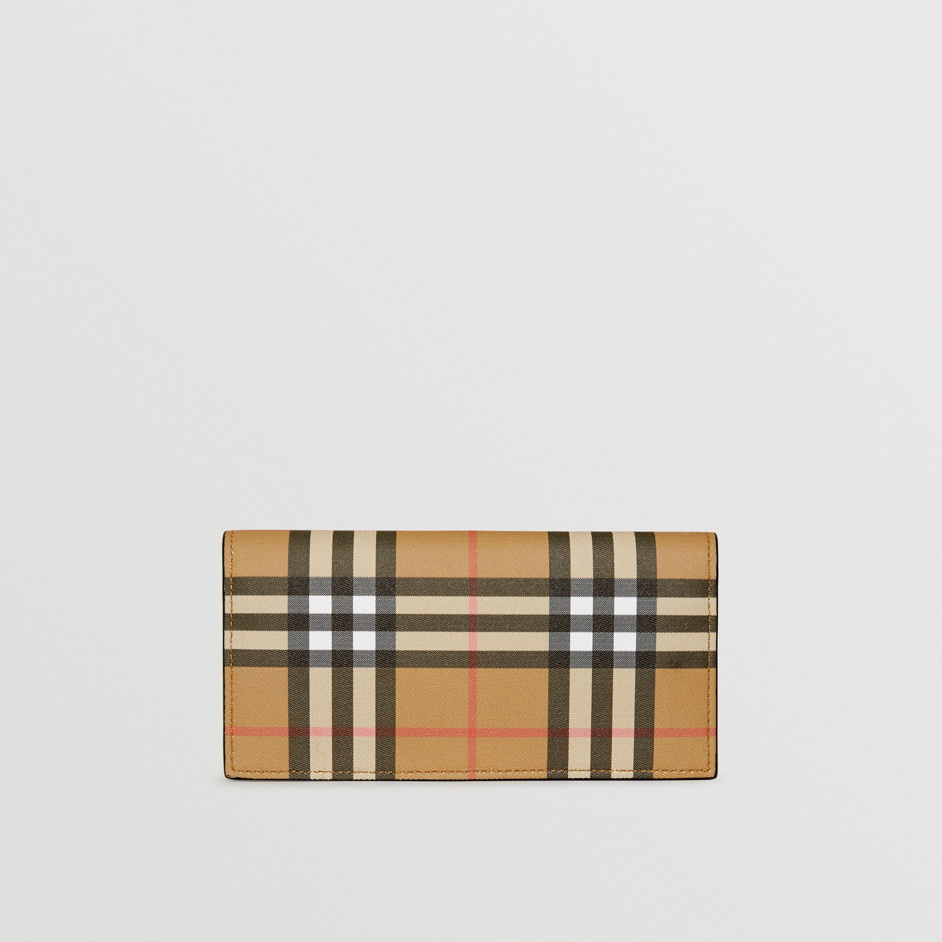 Vintage Check and Leather Continental Wallet in Antique Yellow/black - Men | Burberry Canada - gallery image 2