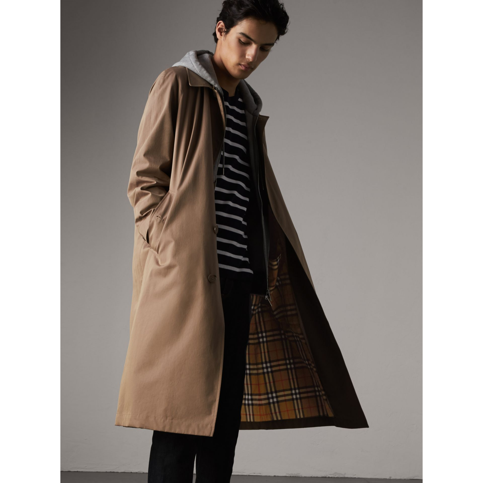 The Brighton – Extra-long Car Coat in Taupe Brown - Men | Burberry - gallery image 1
