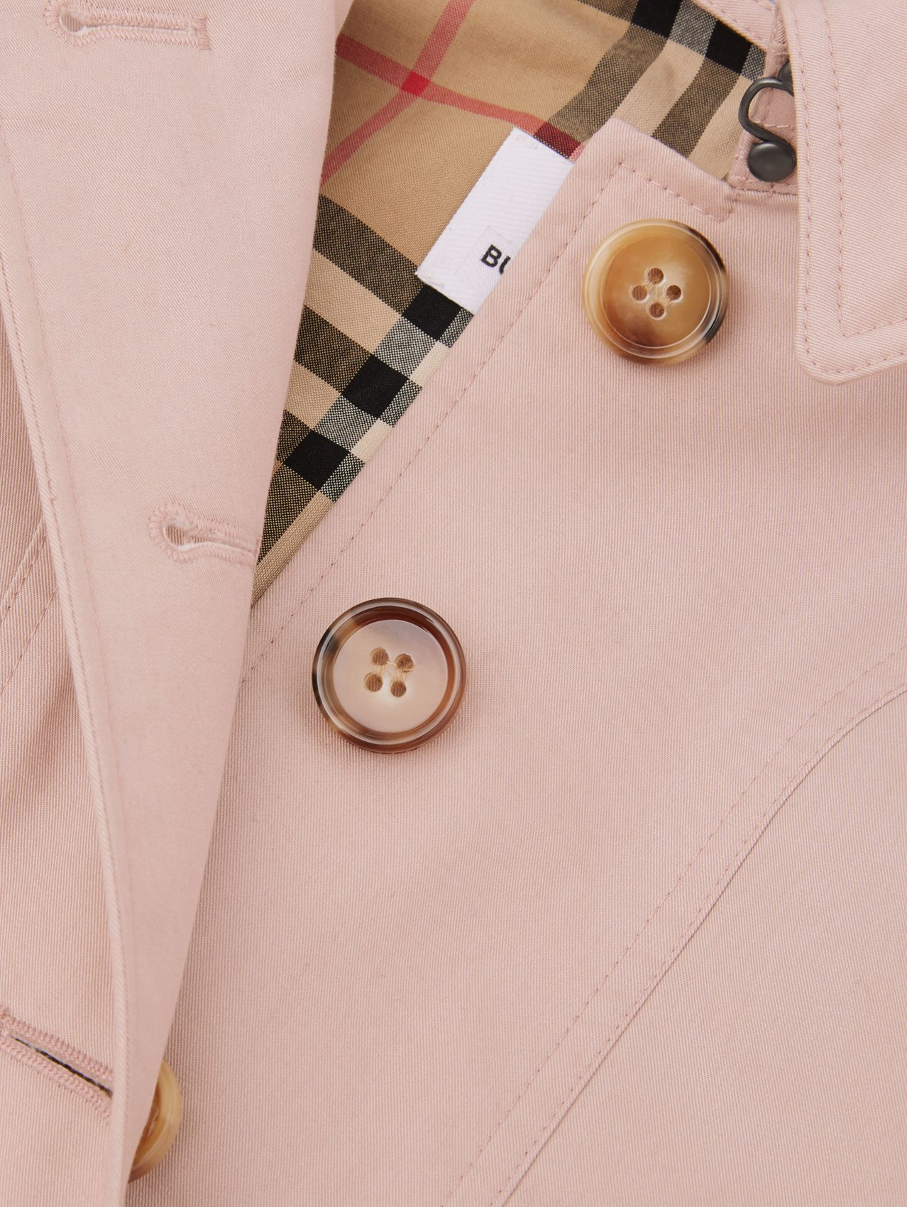 Detachable Hood Cotton Twill Trench Coat