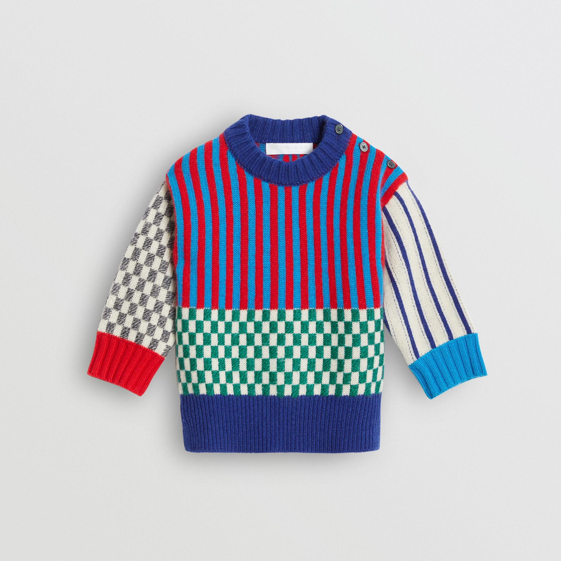 Graphic Cashmere Jacquard Sweater in Multicolour - Children | Burberry - gallery image 0