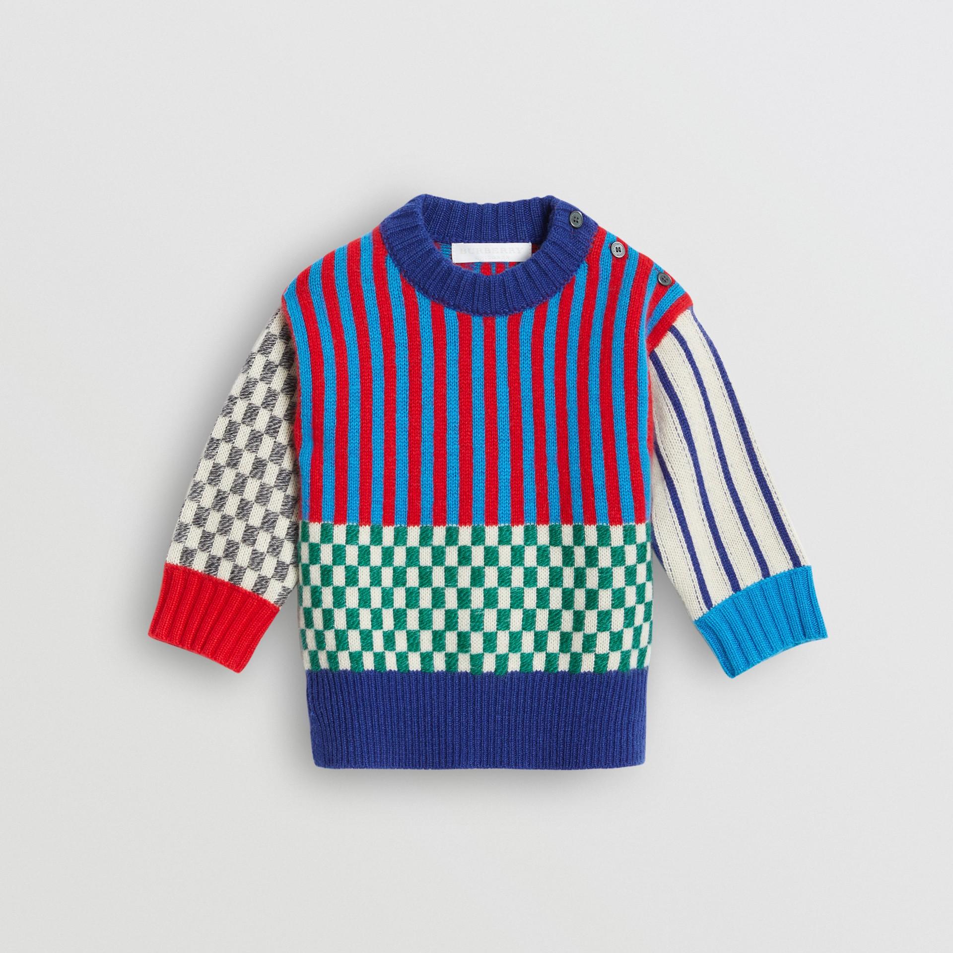 Graphic Cashmere Jacquard Sweater in Multicolour - Children | Burberry United Kingdom - gallery image 0