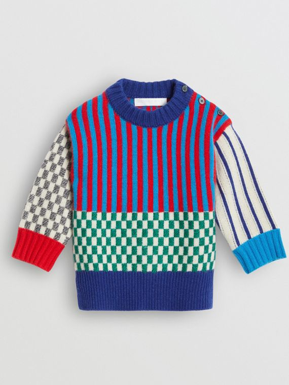 Suéter de cashmere em jacquard com estampa gráfica (Multicolorido)
