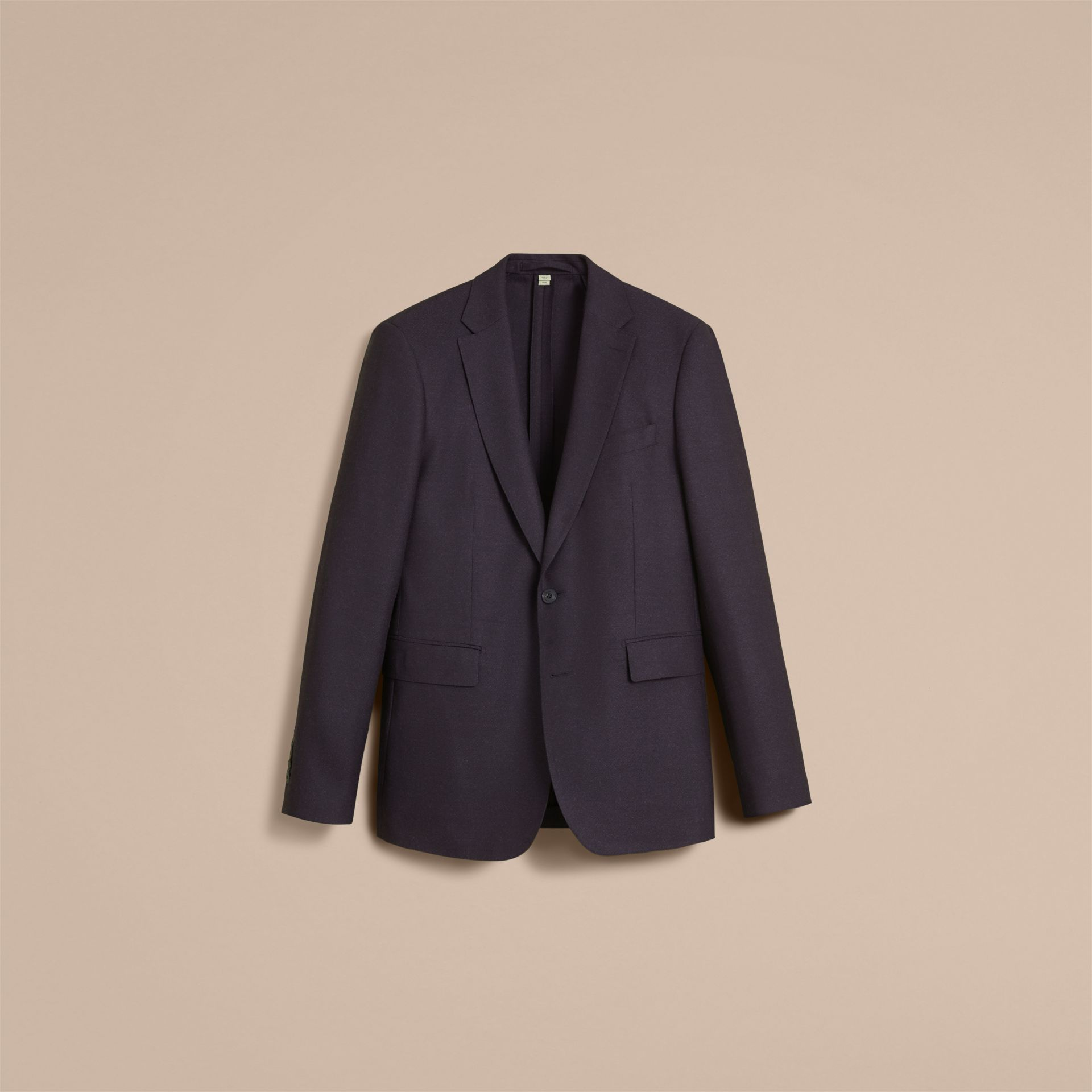 Soho Fit Wool Flannel Suit in Navy Melange - Men | Burberry - gallery image 4