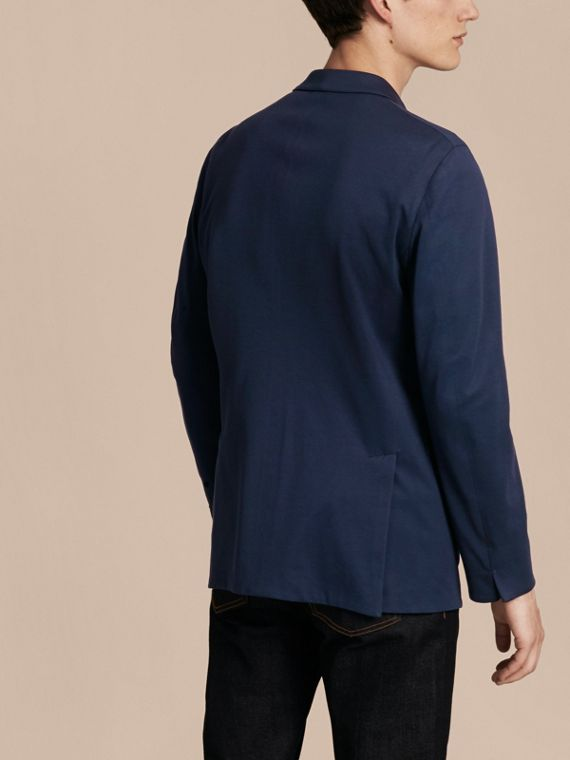 Navy Slim Fit Cotton Tailored Jacket - cell image 2