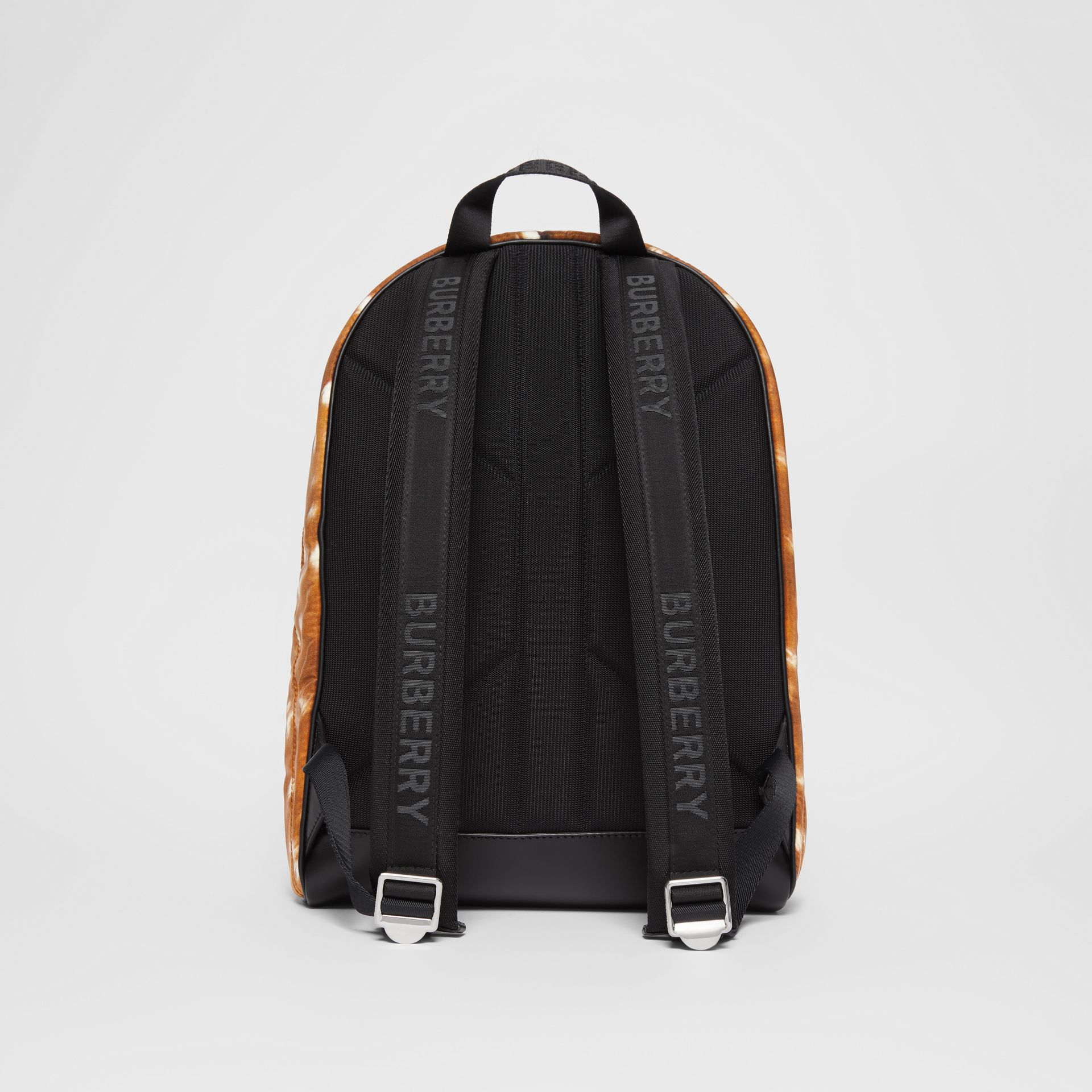 Deer Print Nylon Backpack in Tan/white | Burberry - gallery image 7