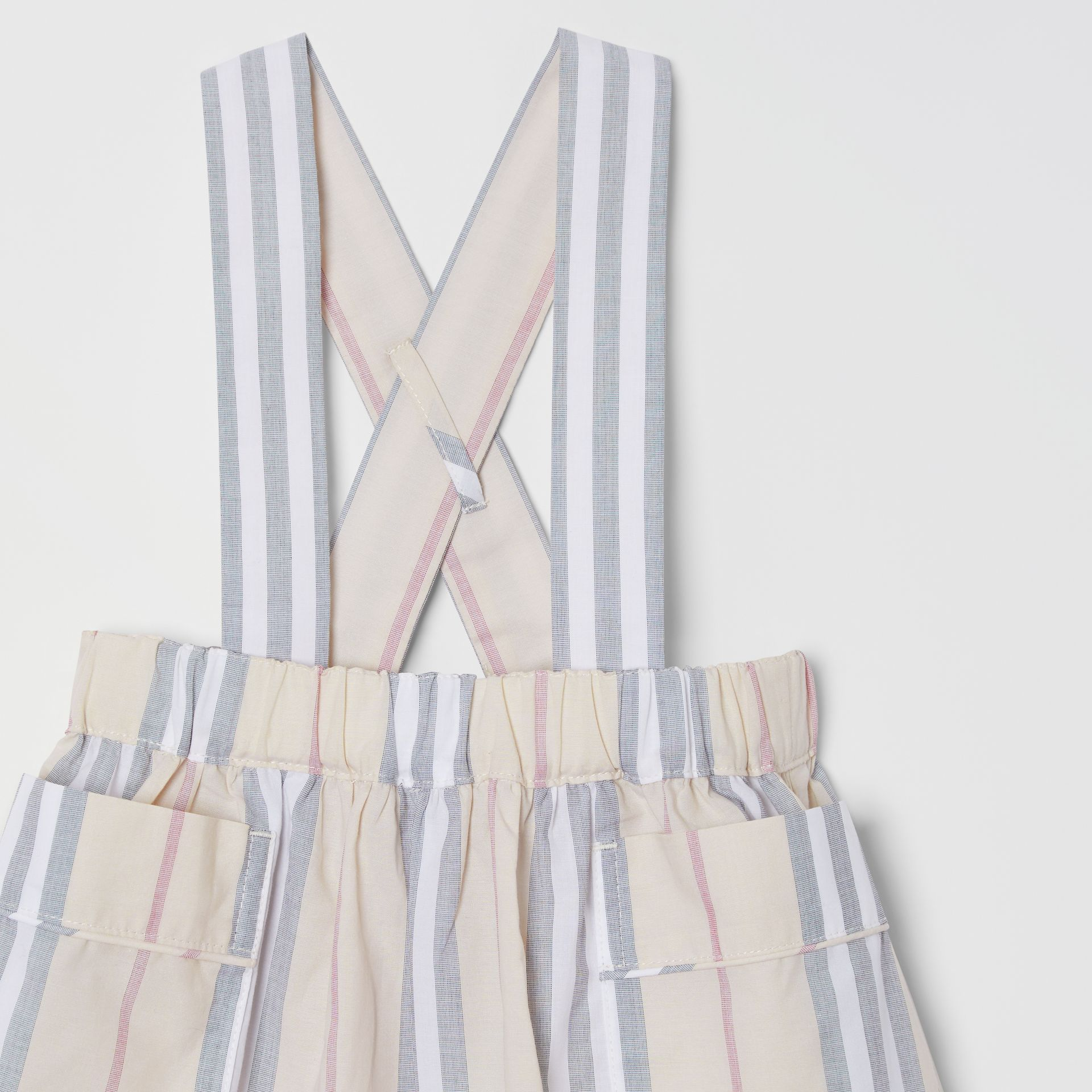 Icon Stripe Cotton Three-piece Baby Gift Set in Pale Stone - Children | Burberry - gallery image 9