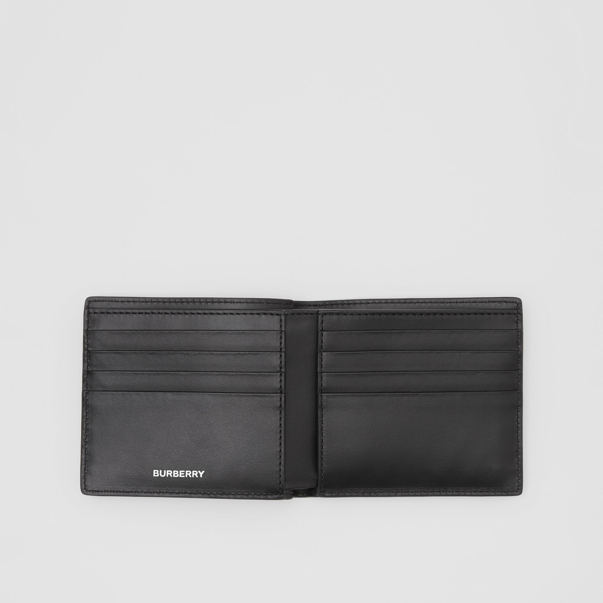 Colour Block Leather International Bifold Wallet in Red/black/beige - Men | Burberry - gallery image 2