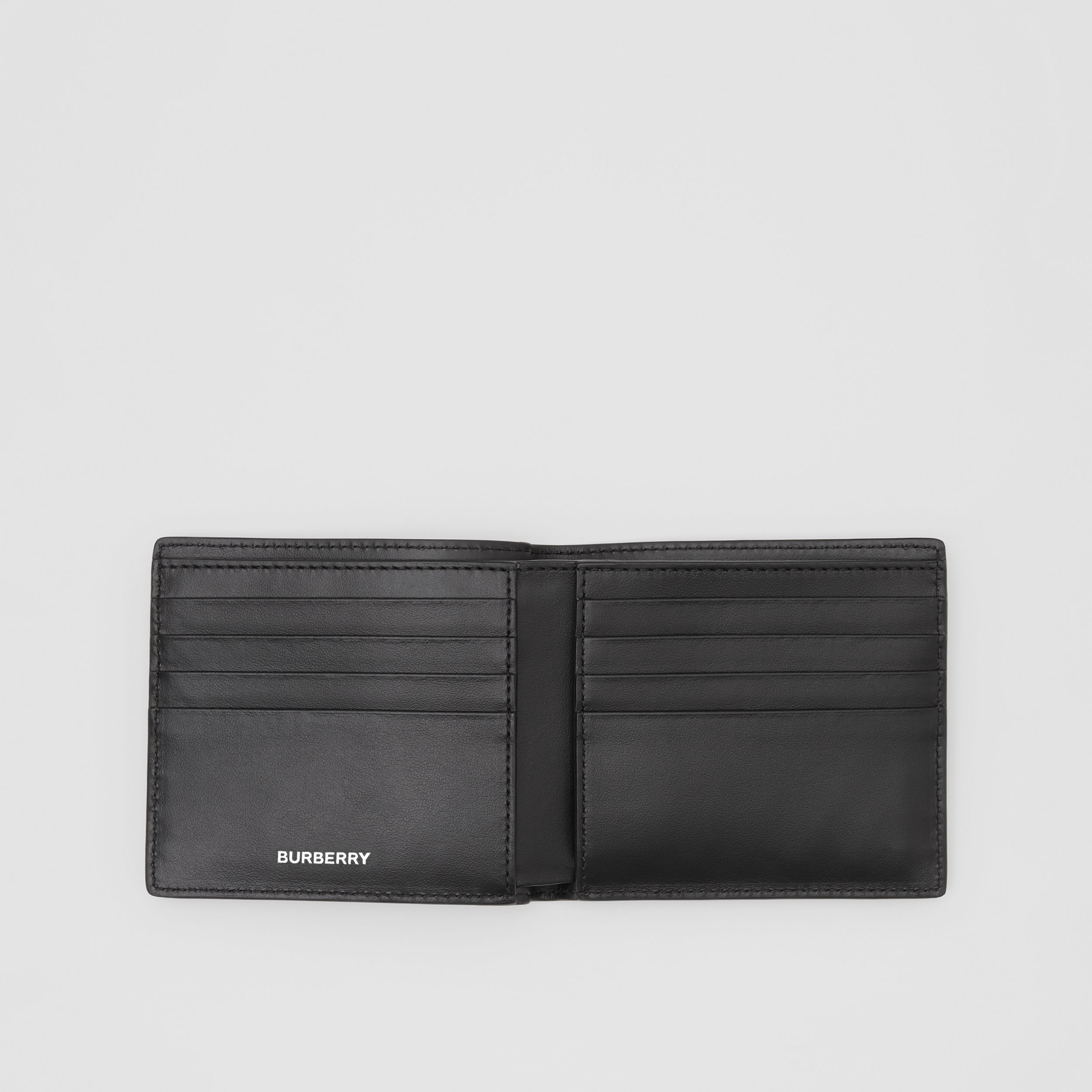 Colour Block Leather International Bifold Wallet in Red/black/beige - Men | Burberry United States - 3