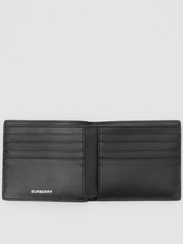 Colour Block Leather International Bifold Wallet in Red/black/beige - Men | Burberry Hong Kong S.A.R - cell image 2