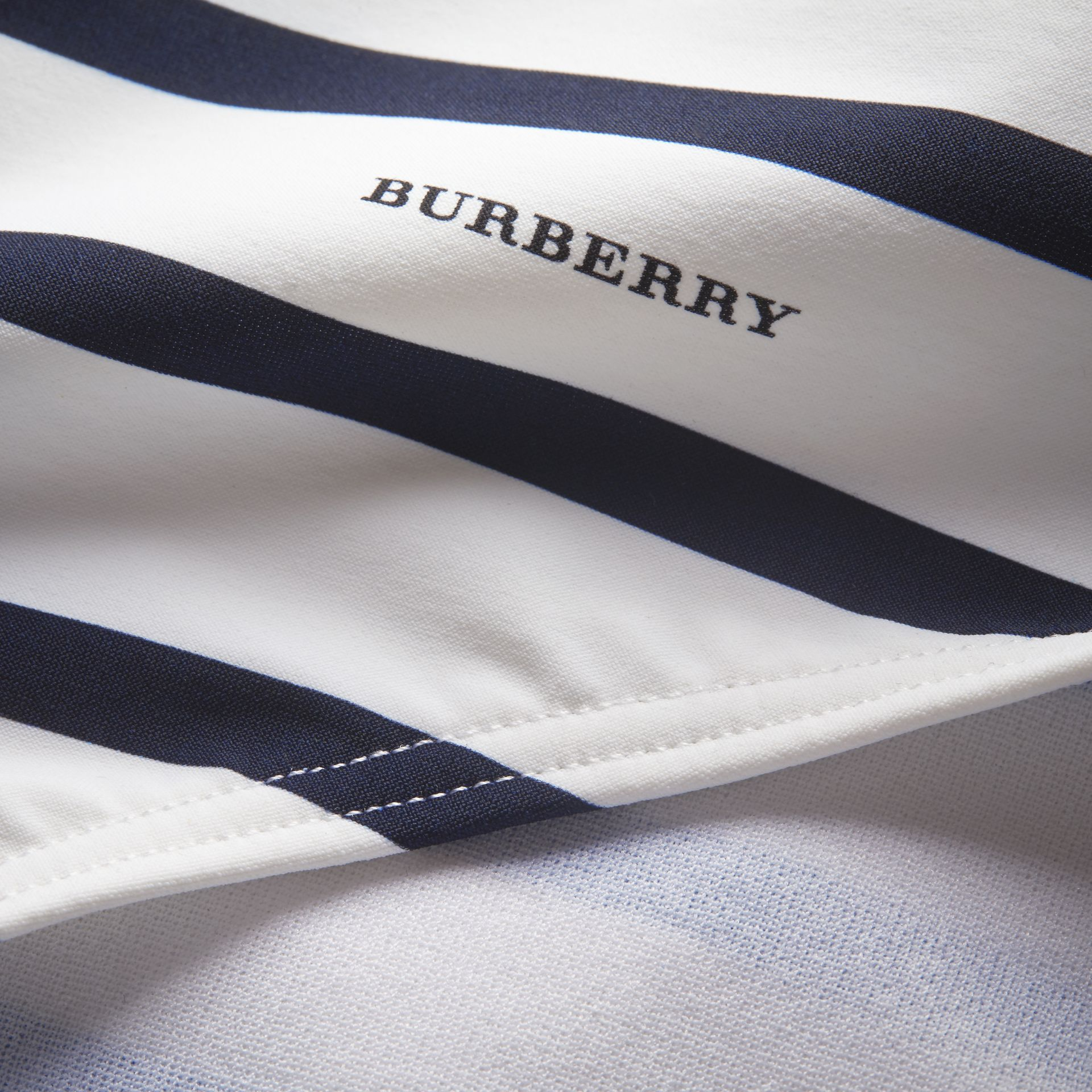 Breton Stripe Swimsuit in Navy - Women | Burberry - gallery image 2