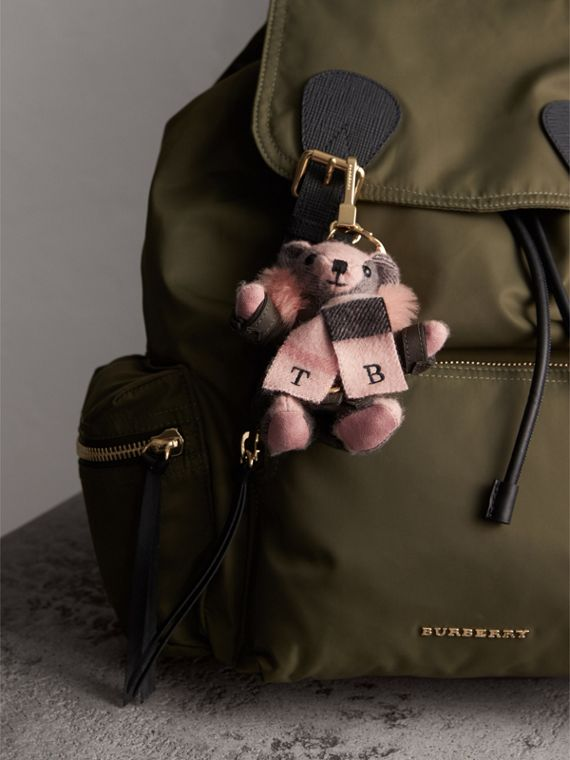 Thomas Bear Charm in Puffer Coat and Scarf in Ash Rose - Women | Burberry - cell image 2