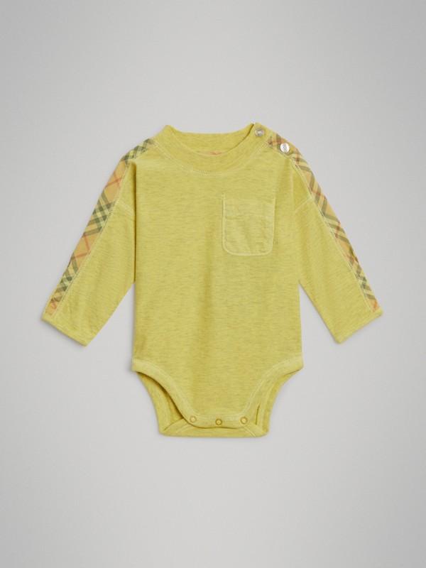 Gift set para bebê de três peças de algodão com detalhe xadrez (Multicolorido) - Crianças | Burberry - cell image 2