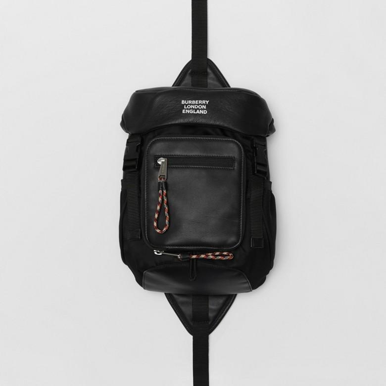 Burberry - Sac à dos ceinture Leo en cuir avec logo - 1