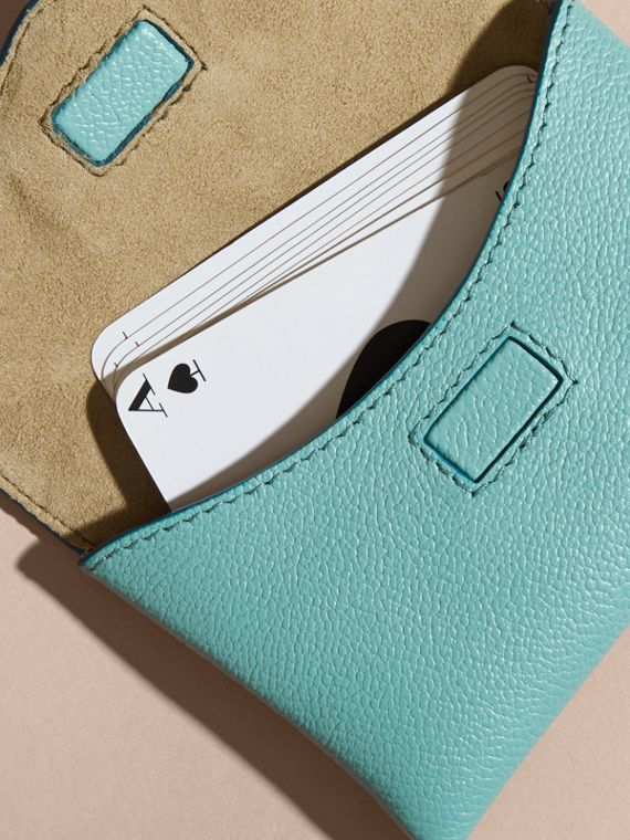 Grainy Leather Playing Card Case in Pale Opal | Burberry - cell image 2
