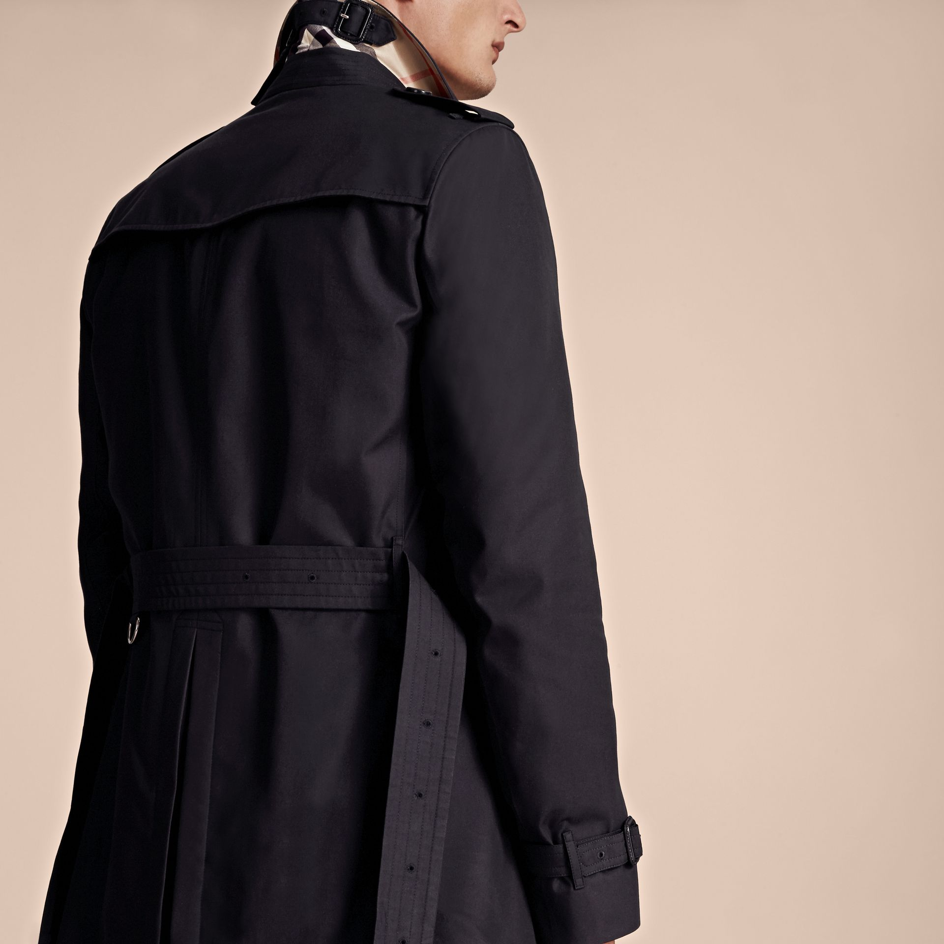Navy The Chelsea – Short Heritage Trench Coat Navy - gallery image 6