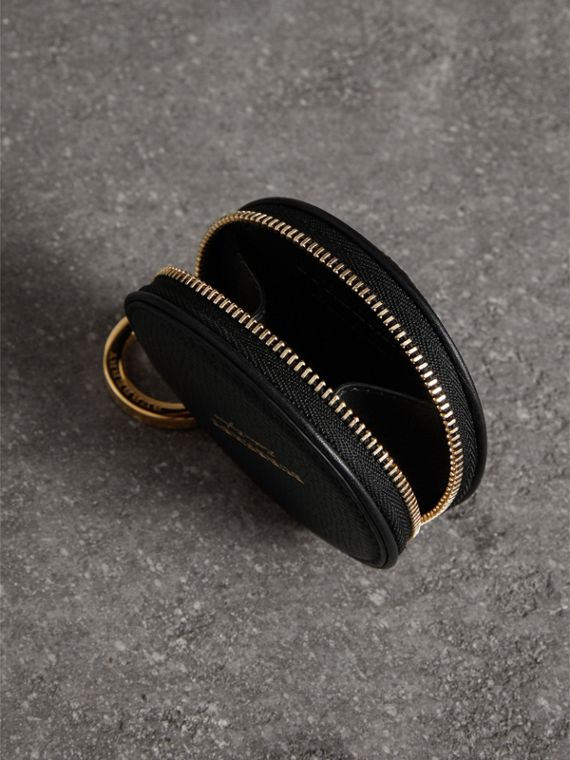 Haymarket Check and Leather Coin Case in Black - Men | Burberry United Kingdom - cell image 3