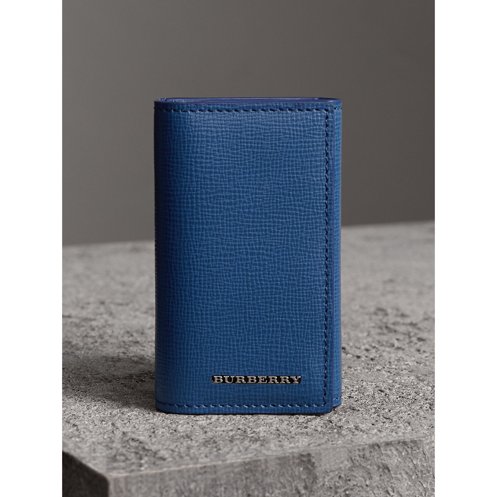 London Leather Key Holder in Deep Blue - Men | Burberry - gallery image 4