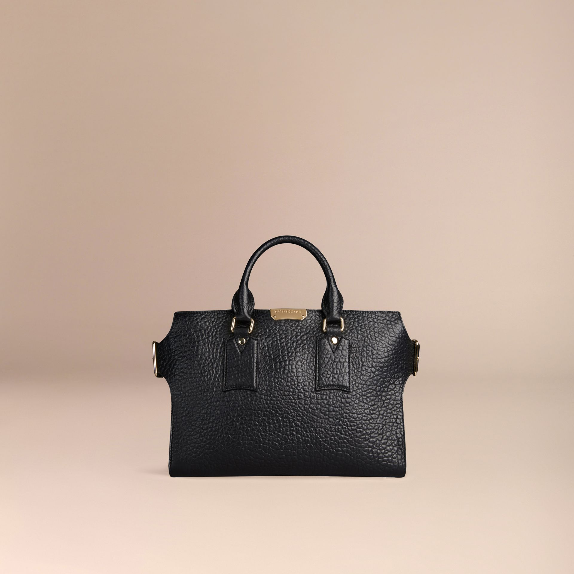 Noir Sac medium The Clifton en cuir grainé emblématique Noir - photo de la galerie 6