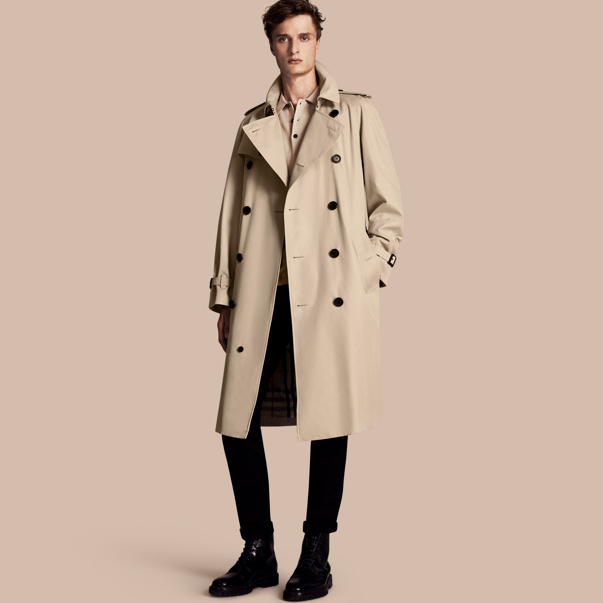 Stone The Westminster – Long Heritage Trench Coat Stone - gallery image 1