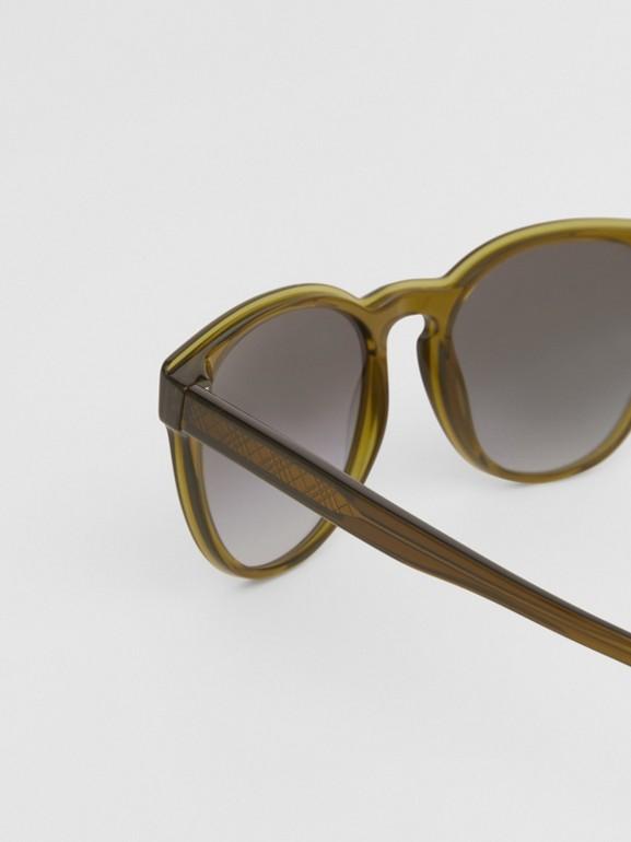 Round Frame Sunglasses in Olive - Men | Burberry Australia - cell image 1