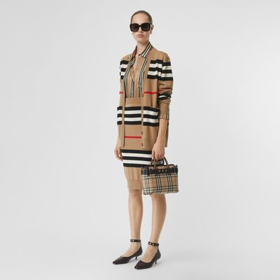 Icon Stripe Merino Wool Cardigan by Burberry