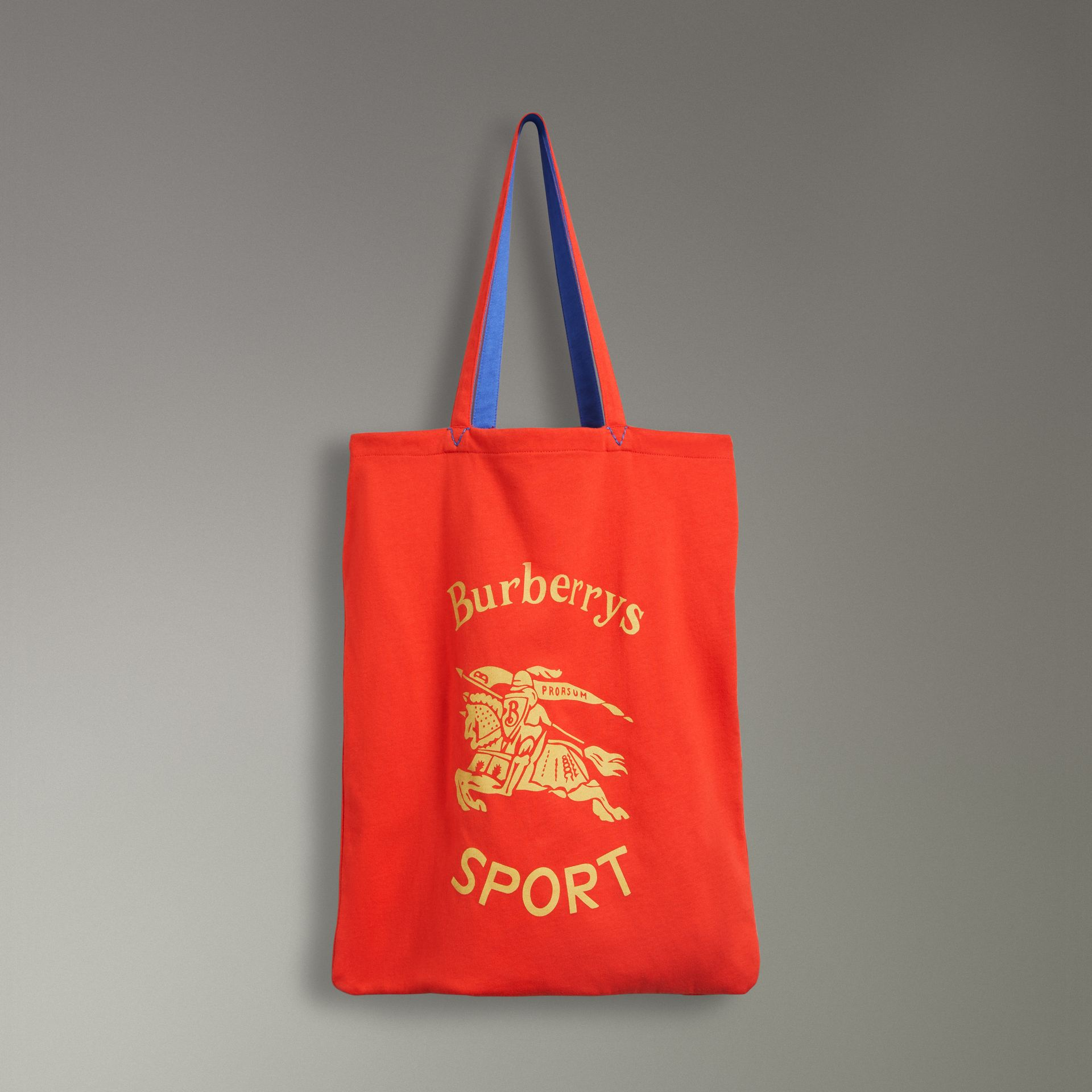 Large Archive Logo Jersey Shopper in Poppy Red | Burberry United States - gallery image 0