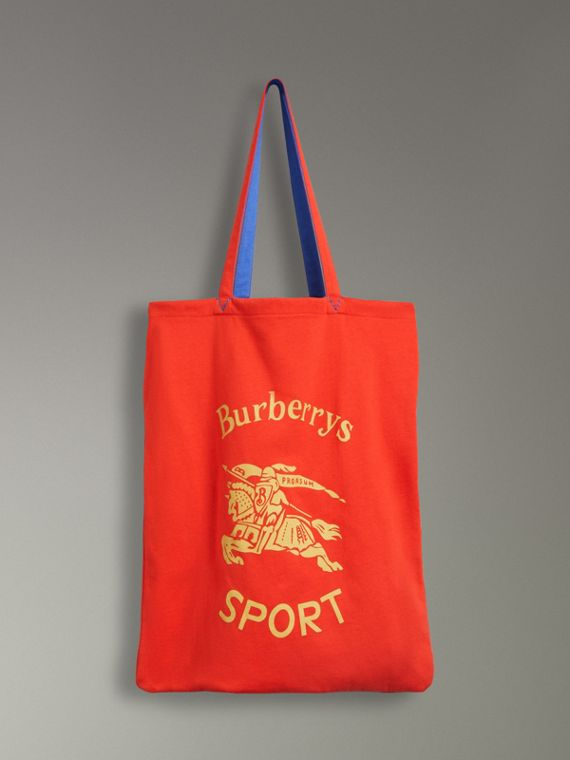 Large Archive Logo Jersey Shopper in Poppy Red