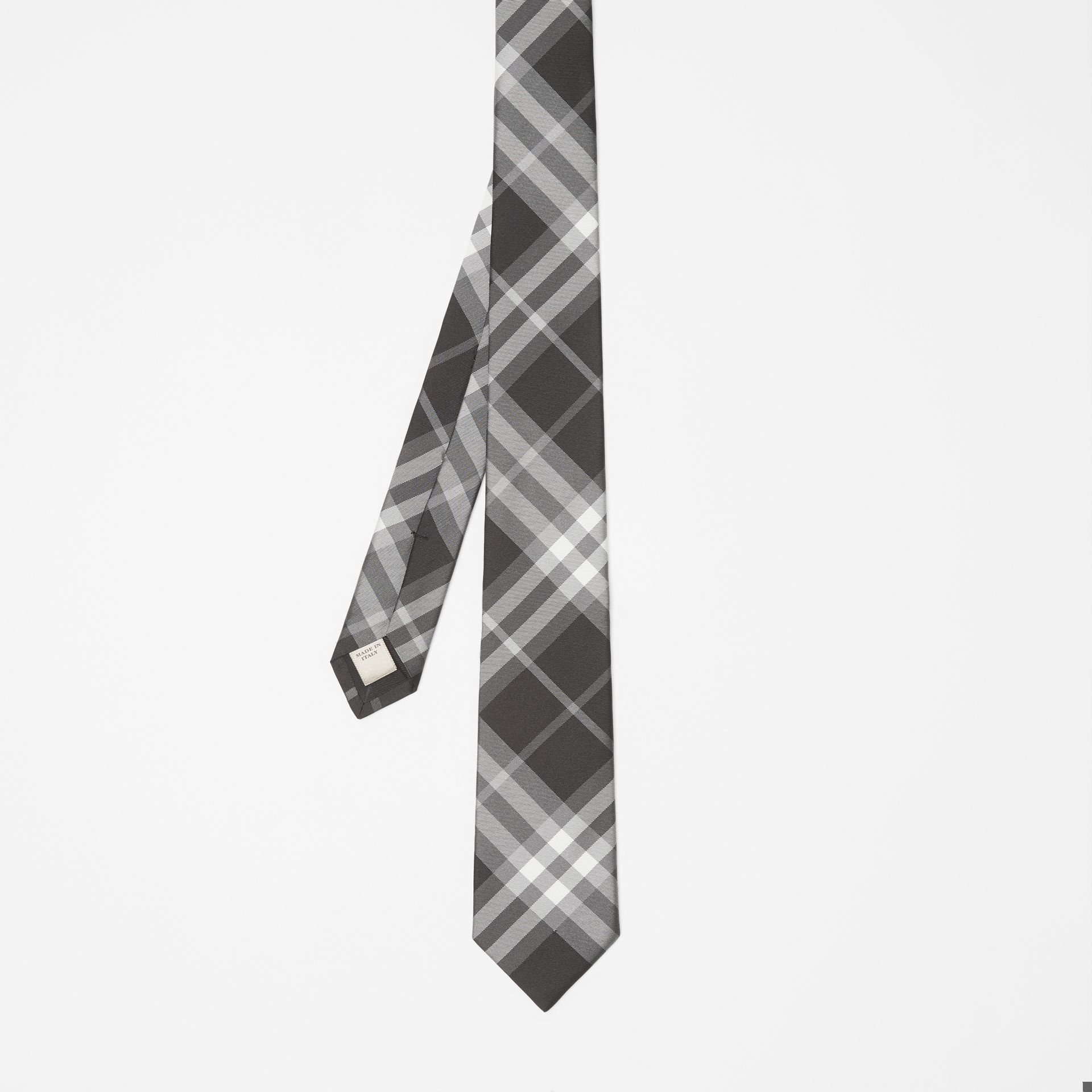 Modern Cut Vintage Check Silk Tie in Black - Men | Burberry Singapore - gallery image 4