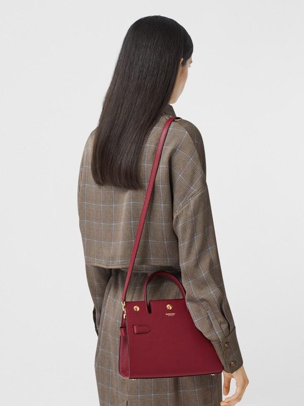 Mini Leather Title Bag in Dark Crimson - Women | Burberry United Kingdom - cell image 2