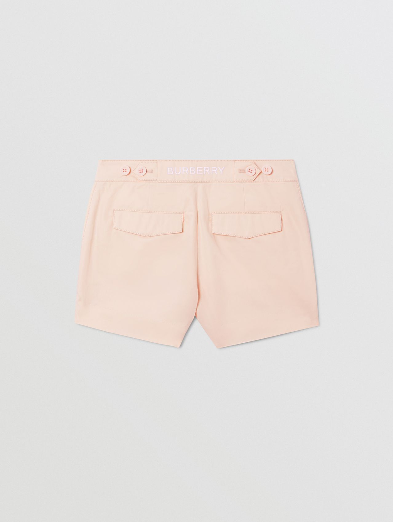Embroidered Logo Cotton Shorts (Soft Pink)