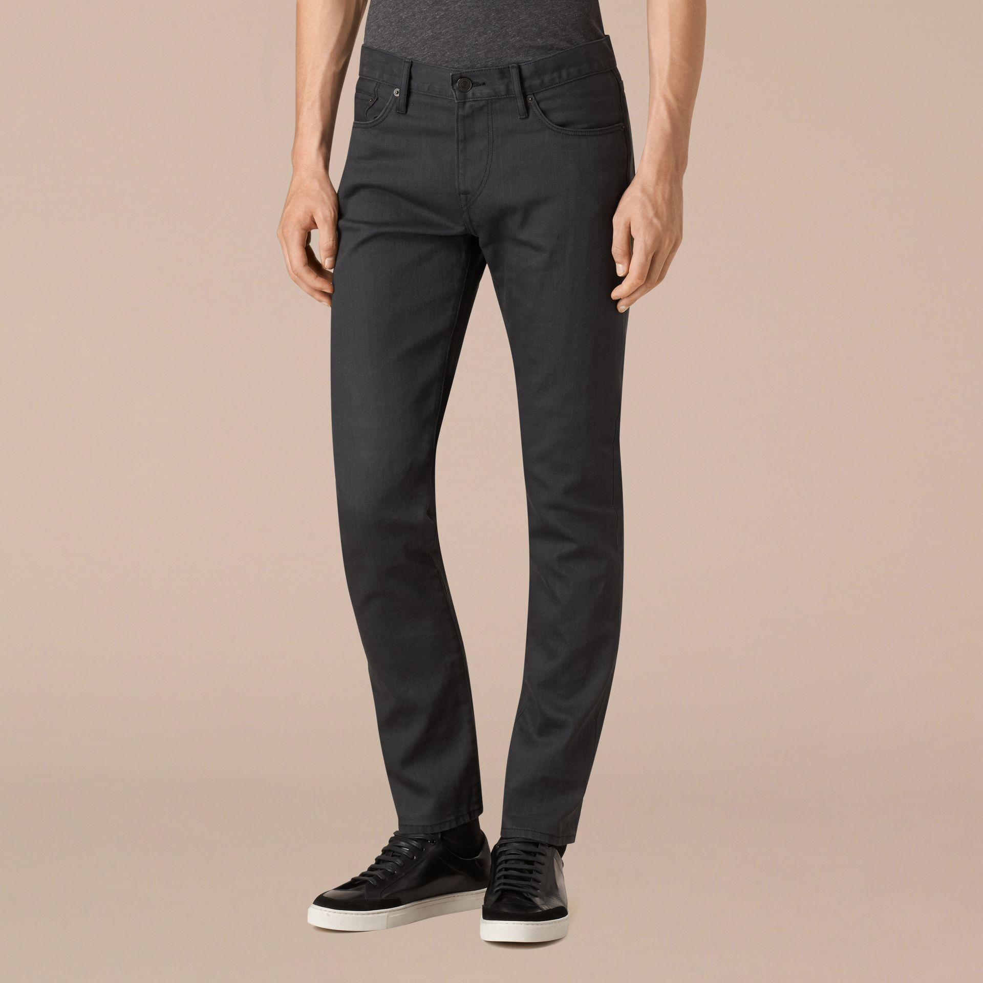 Storm grey Slim Fit Japanese Selvedge Jeans - gallery image 4