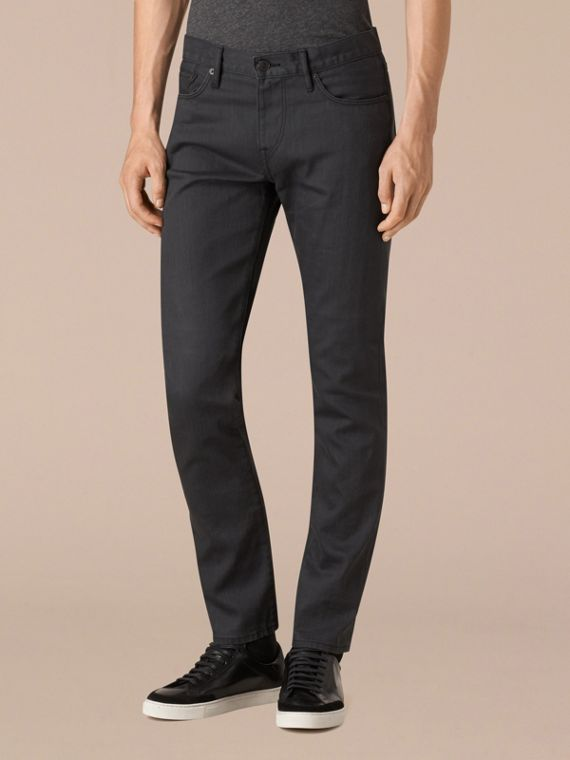 Storm grey Slim Fit Japanese Selvedge Jeans - cell image 3