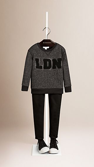 Sweat-shirt en coton mélangé extensible London