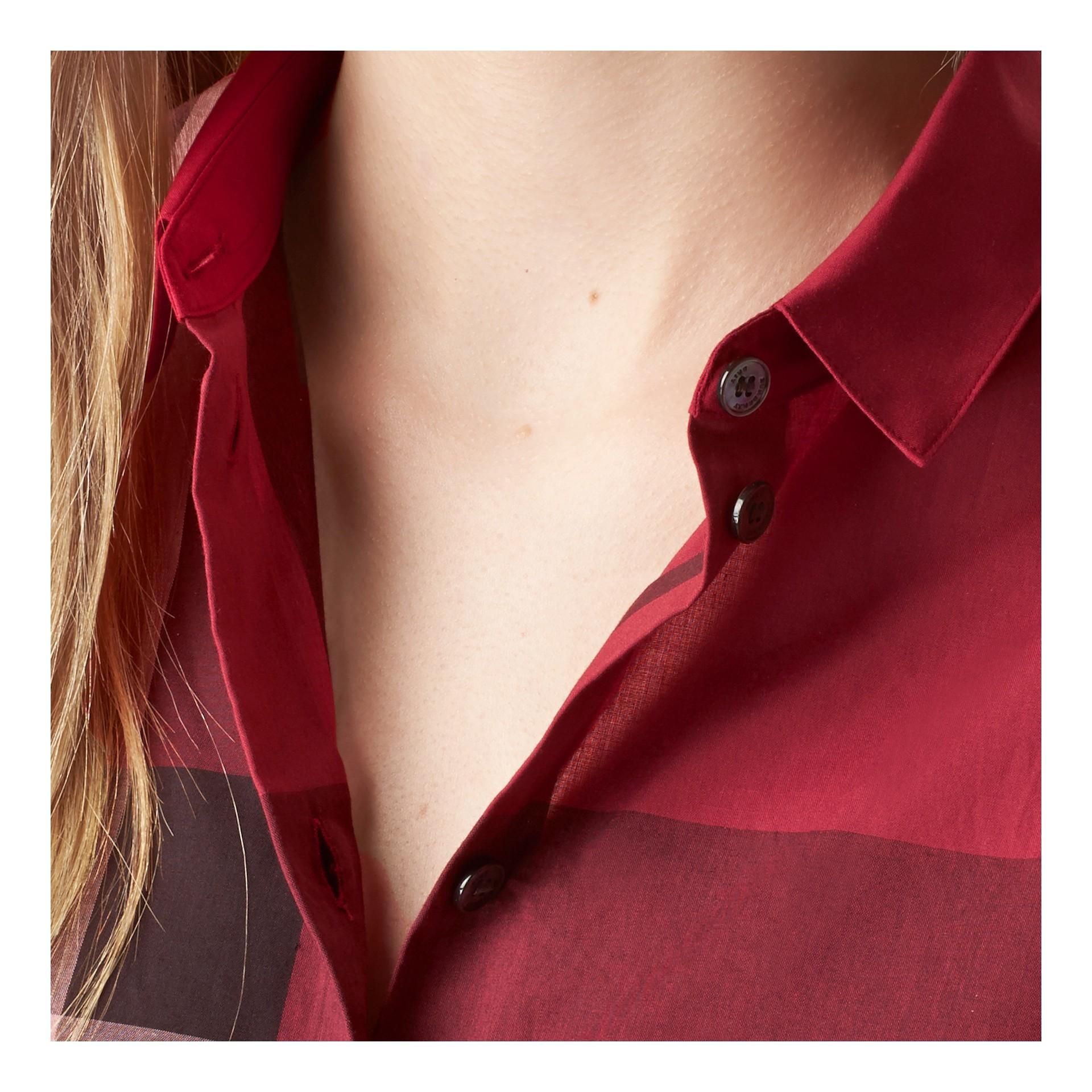 Красная ягода Рубашка из хлопка в клетку Красная Ягода - изображение 2