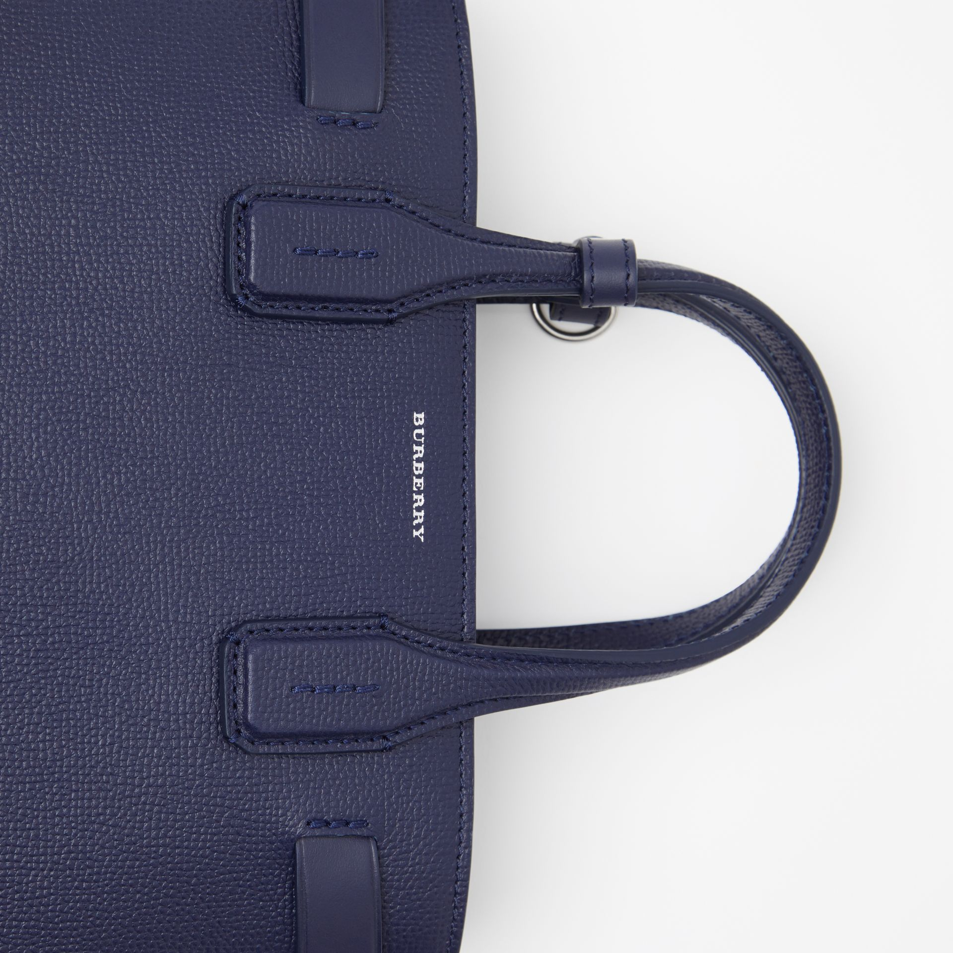 The Small Banner in Leather and Vintage Check in Regency Blue - Women | Burberry Singapore - gallery image 2
