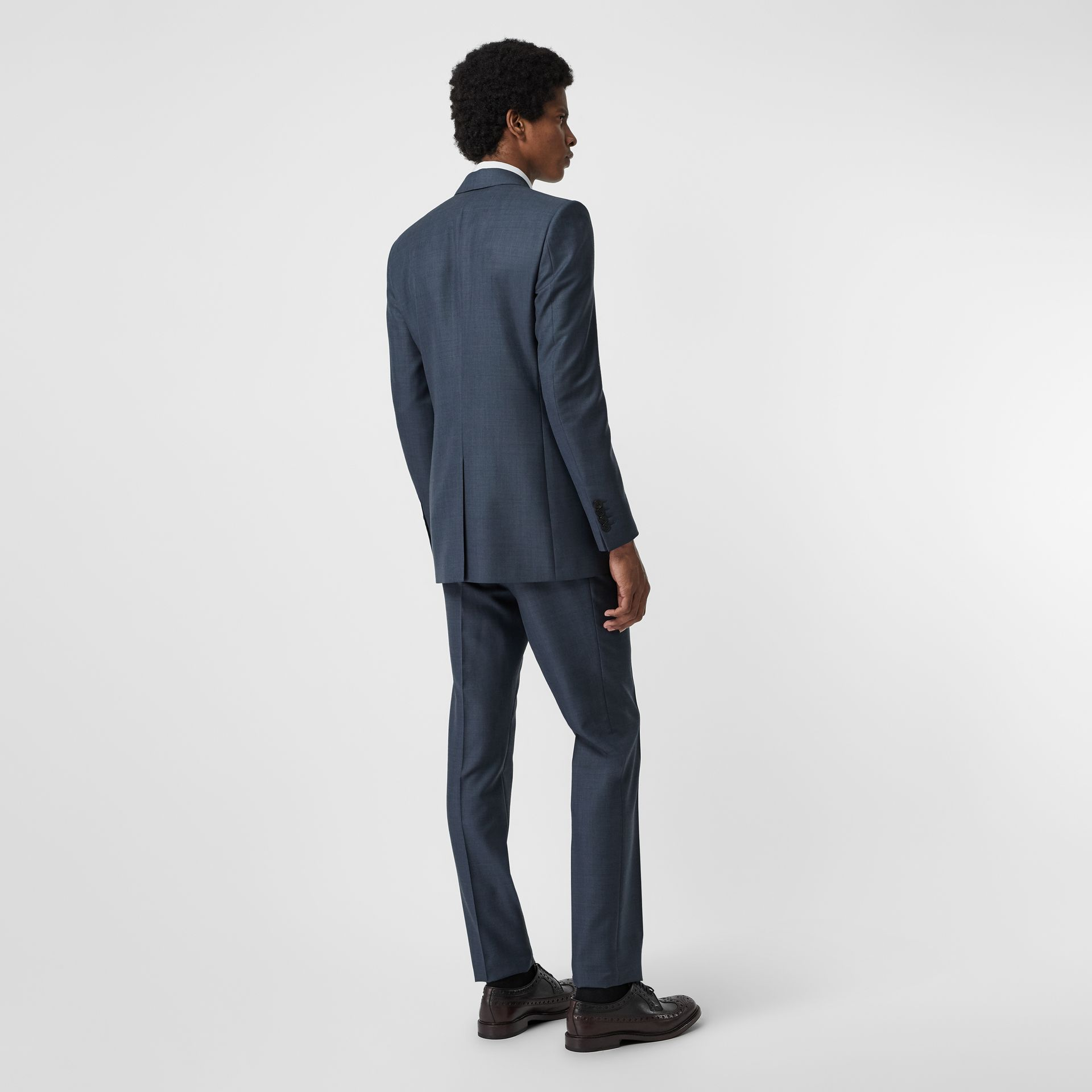 Classic Fit Wool Mohair Silk Suit in Steel Blue - Men | Burberry United States - gallery image 2