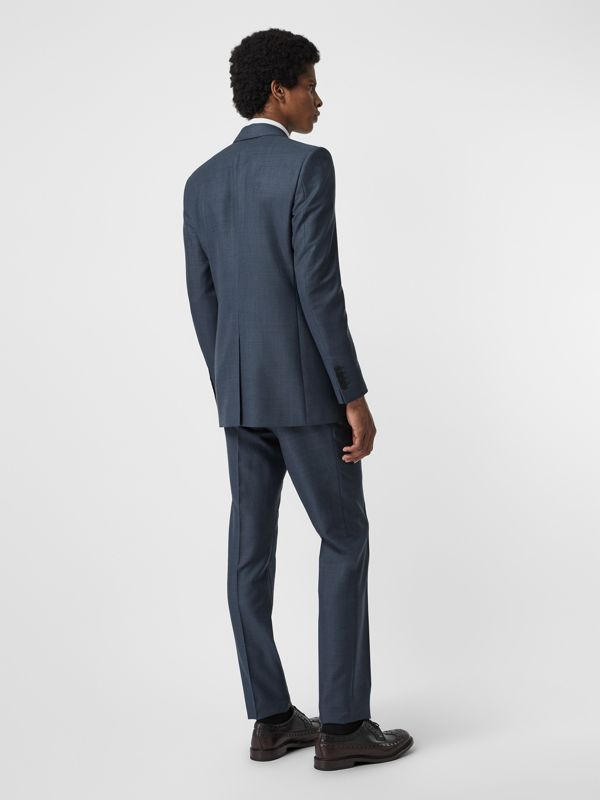 Classic Fit Wool Mohair Silk Suit in Steel Blue - Men | Burberry - cell image 2