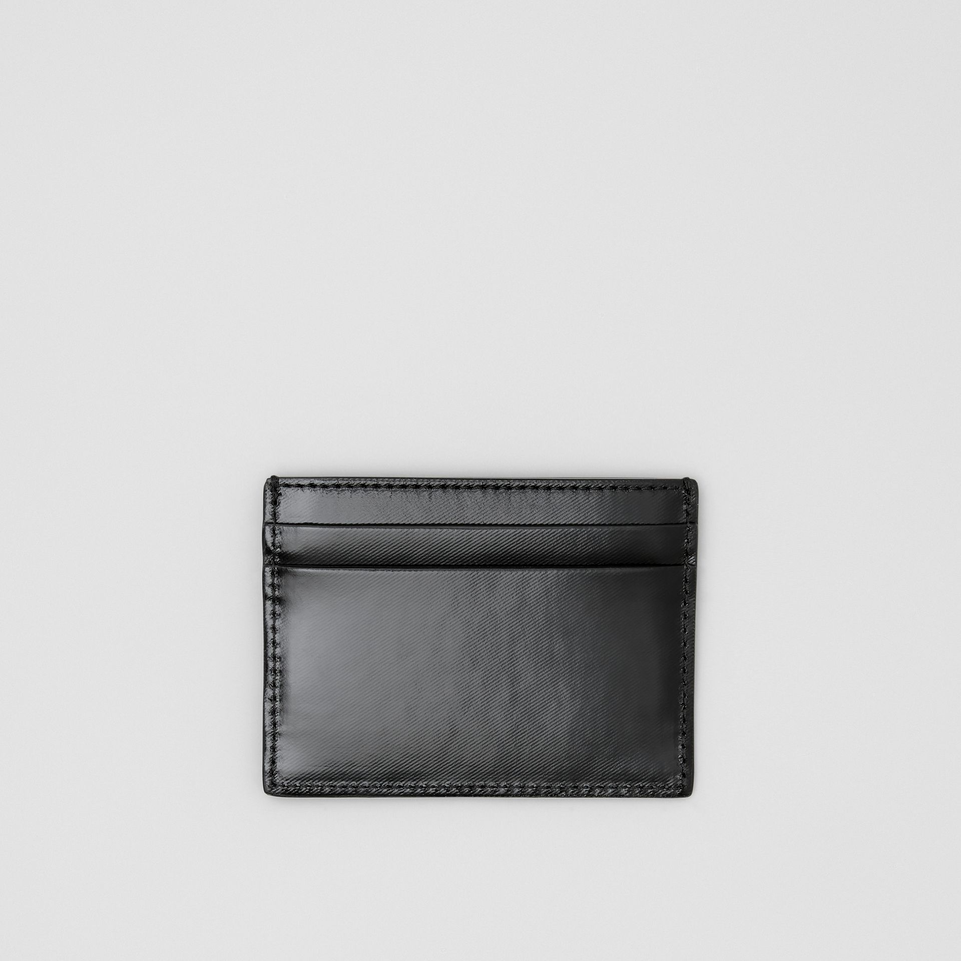 Logo Graphic Canvas Card Case in Black - Men | Burberry - gallery image 2