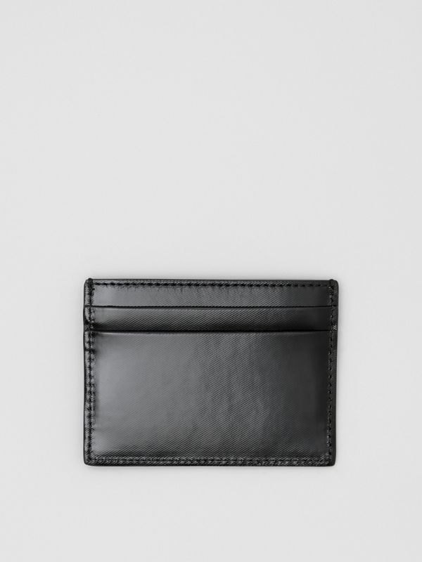 Logo Graphic Canvas Card Case in Black - Men | Burberry - cell image 2