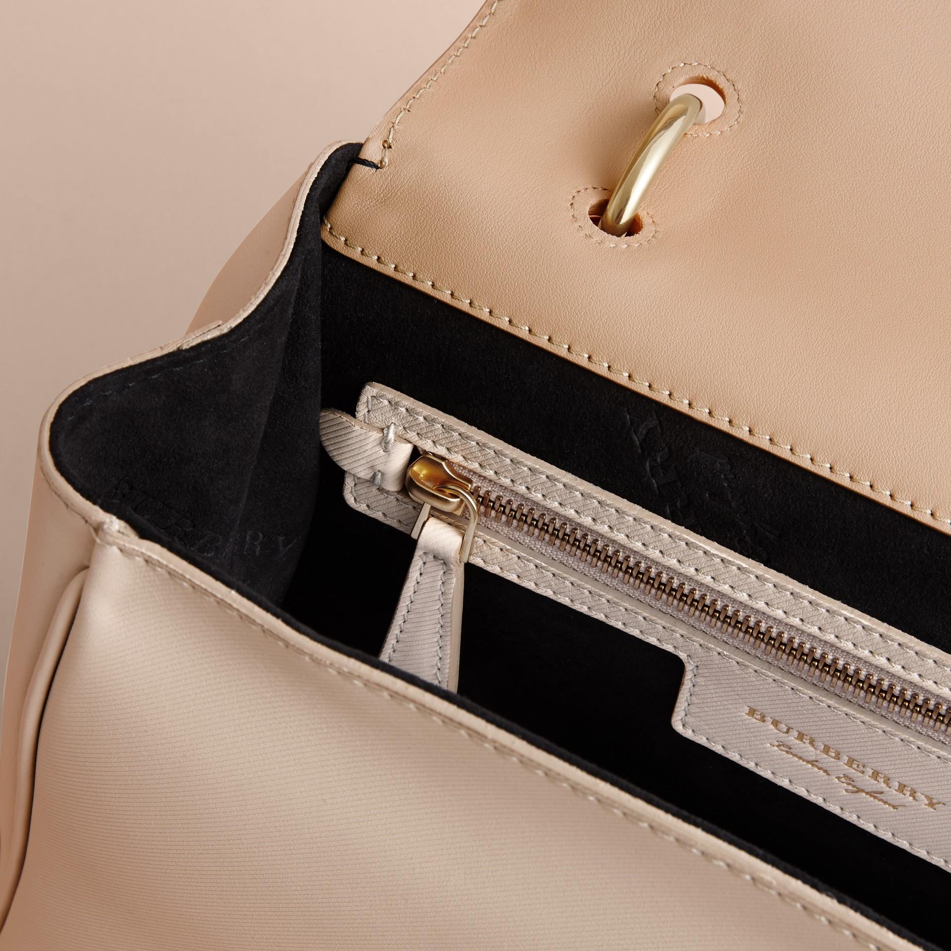 The Medium DK88 Top Handle Bag Limestone/honey - gallery image 6