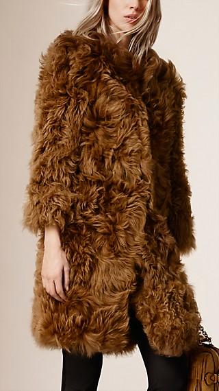 Long-Hair Shearling Coat