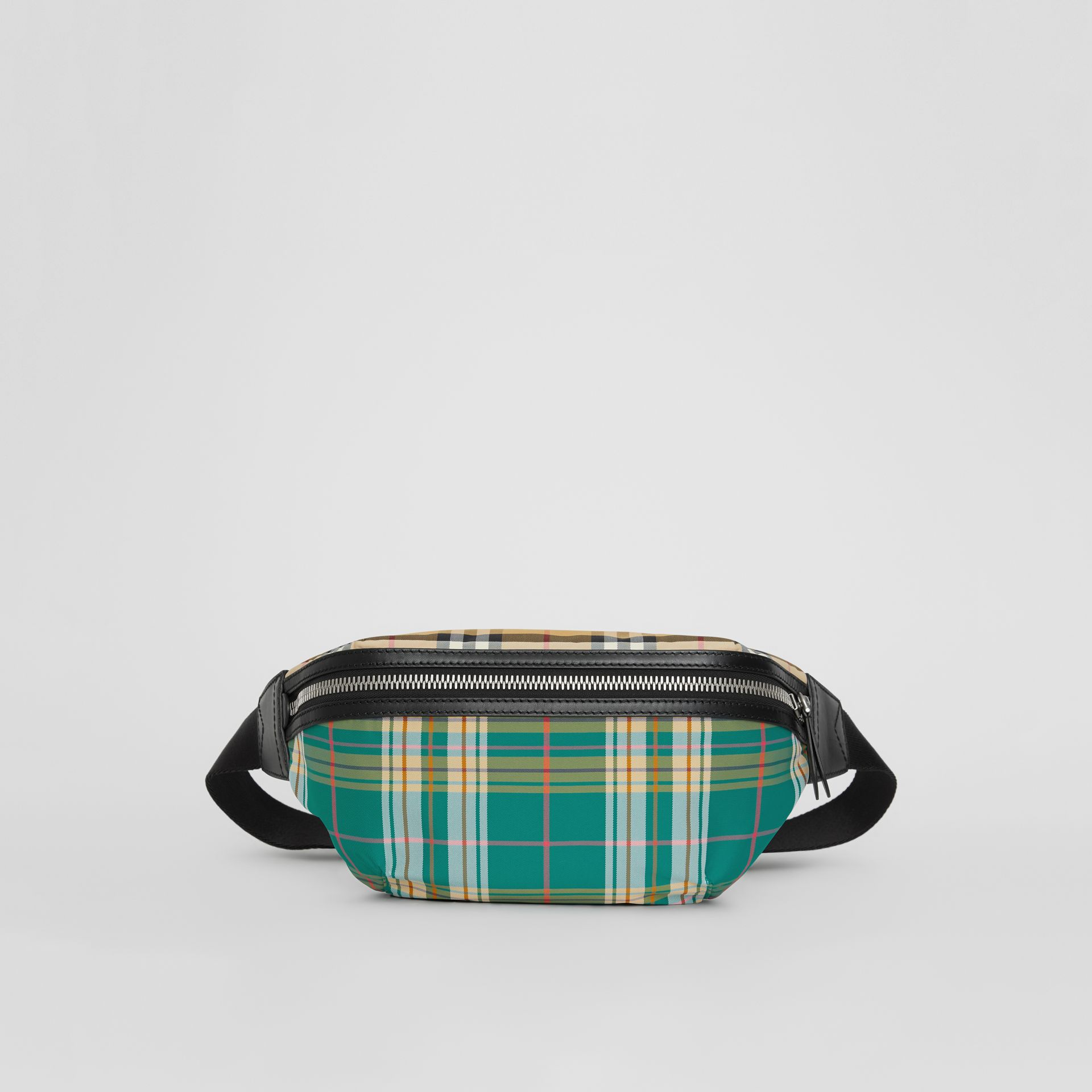 Medium Vintage Check and Tartan Bum Bag in Pine Green | Burberry - gallery image 3